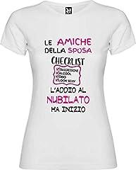 Idea Regalo - Centro Stampa Brianza T-shirt addio al nubilato - Celibato - Nubilato - Addio al nubilato amiche della sposa con Cheklist