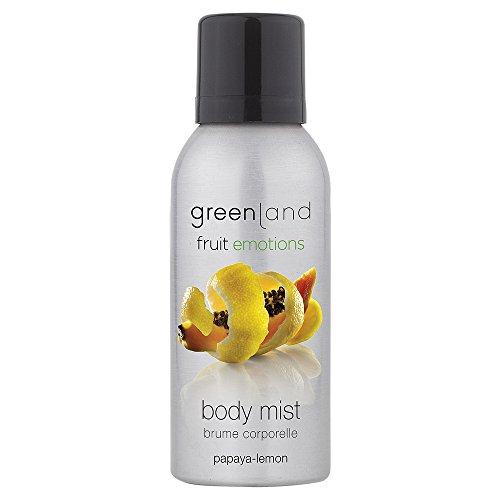 Greenland Körperspray Papaya Zitronen | 75ml Bodyspray Vegan & Ohne Tierversuche | Verwöhnendes Erfrischungsspray für den ganzen Körper