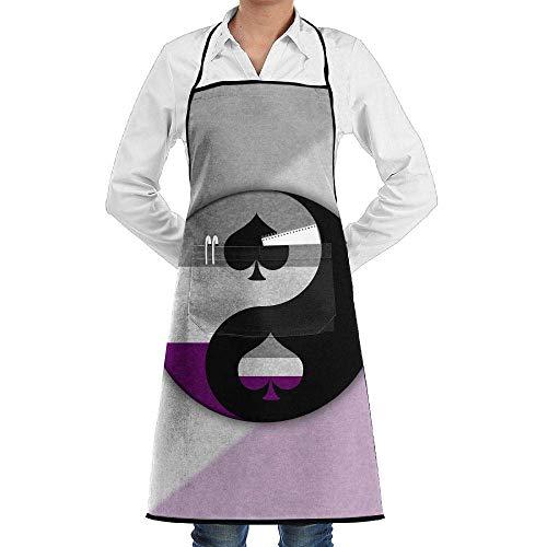 Kostüm Yin Yang Machen - Drempad Unisex Schürzen, Tai Chi Yin Yang Spades Faction Unisex Kitchen Cooking Garden Apron,Convenient Adjustable Sewing Pocket Waterproof Chef Aprons