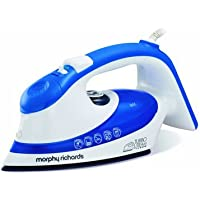 Morphy Richards Steam Iron Turbo Steam 300603 2200w Blue White Ionic Steam Irons