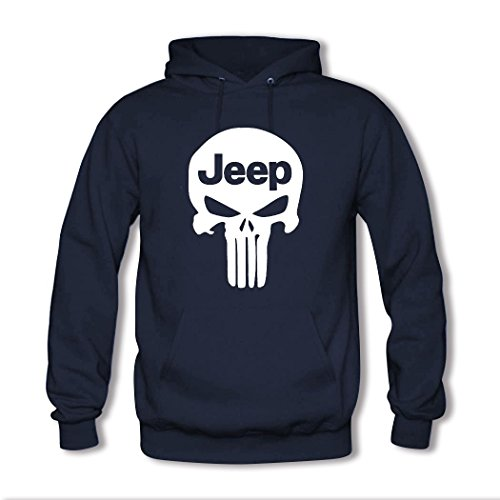 HGLee Printed Personalized Custom Jeep Classic Women Hoodie Hooded Sweatshirt Navy--1