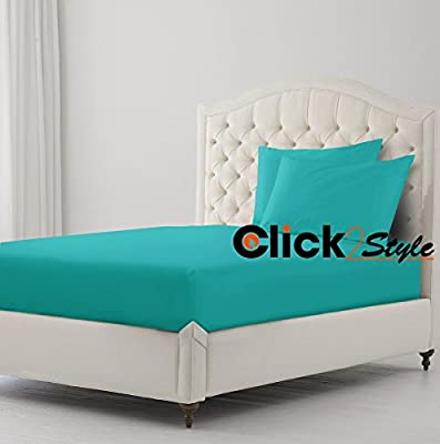 """Bunk Bed Fitted Sheet Polycotton Fabric Plain Dyed Fitted Sheet 2' 6"""" (75cm x 190cm) by clicktostyle"""