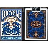 Fahrrad blauen Drachen zurück Spielkarten Bicycle Blue Dragon Back Playing Cards