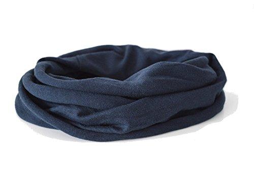 Andrea Traub - FASHION Kleinkinder und Baby - Loop zweifach gewickelt, uni dunkelblau, Kids Schlauchschal, Schal Tuch für Mädchen und Jungen