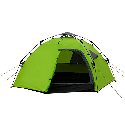 4 Mann Sekundenzelt Qeedo Quick Maple 4, Campingzelt mit Quick Up System, Innenhöhe: 140 cm - Grün - 3