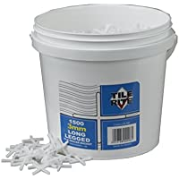 TILE RITE LLB096 1500 x 3mm Long Leg Floor Tile Spacers in a Bucket, 3mm