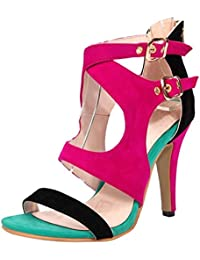 JOJONUNU Mujer Punta Abierta Sandalias  Zapatos de moda en línea Obtenga el mejor descuento de venta caliente-Descuento más grande