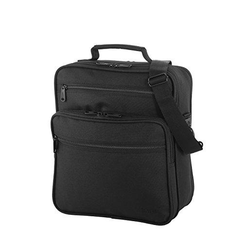 Hochwertige Flug Tasche von Rada Dream Light - wassserabweisende Business Umhängetasche - Schultertasche mit Notebook Tablet Fach Damen und Herren Unisex Schwarz