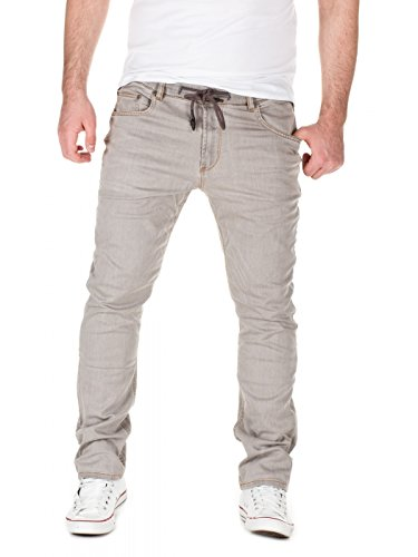 Yazubi Herren Sweathose in Jeansoptik Skinny Fit, Grey (20040), W30/L34