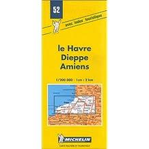 Carte routière : France - Le Havre - Dieppe - Amiens, 52, 1/200000