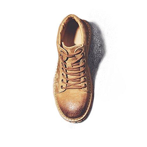 Best Choise Scarpe da uomo Lace Up Stivaletti alti in vera pelle di Martin per gentiluomini Allaperto ( Color : Gray , Size : 41 EU ) Brown