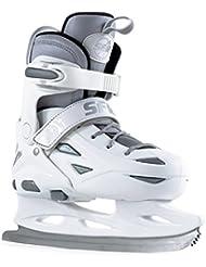 SFR Eclipse White/Silver Youth Ice Skate Sizes 8 Junior - UK 6