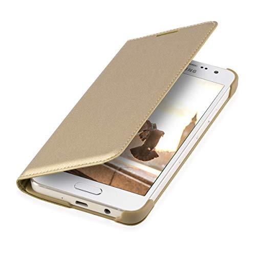 kwmobile Samsung Galaxy A3 (2015) Hülle - Kunstleder Handy Schutzhülle - Flip Cover Case für Samsung Galaxy A3 (2015)