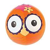 Wasserball Eule / Ball aufblasbar Eulenball Kinderball in rosa orange für die Sommerparty