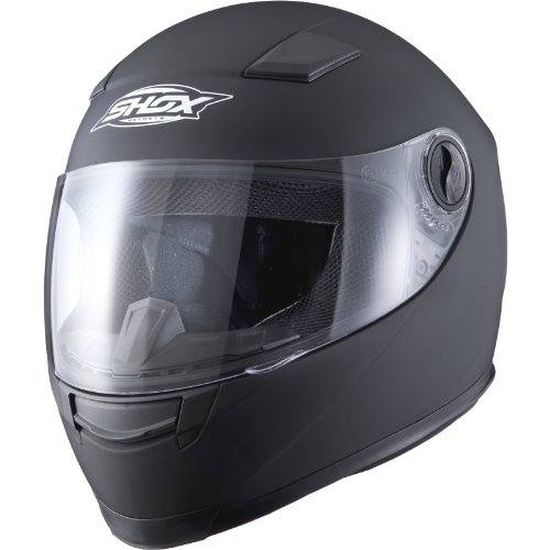Shox Sniper Solid Motorrad Helm L Schwarz Matt - 2