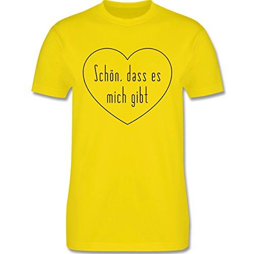 Statement Shirts - Schön, dass es mich gibt - Herren Premium T-Shirt Lemon Gelb