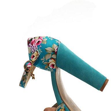 LvYuan Da donna-Sandali-Formale Casual-Altro-Quadrato-Materiali personalizzati Tessuto-Blu Rosso Bianco Blue