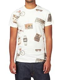 Criminal Damage Men's Clouds Pocket T-Shirt, Black