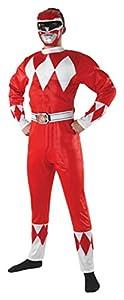 Rubies s oficial Power Ranger Rojo Adulto Disfraz superhéroe Mighty Morphin Rangers para hombre disfraz