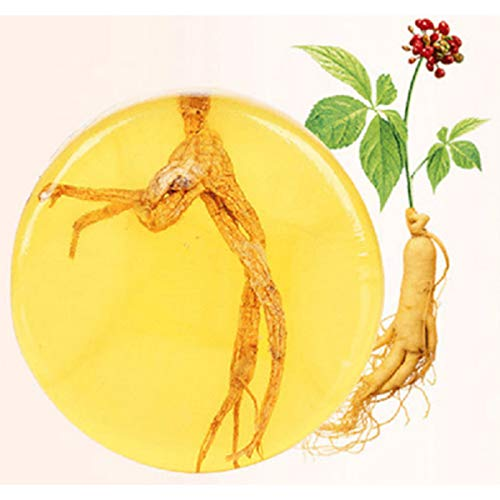 Ginseng Handgemachte Seife Körperseife Körperseife Bad Seife Öl Kontrolle Hautpflege Ekzeme Anti-Pilz Hautaufhellung Seife