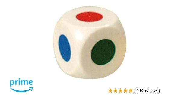 Bartl 104676 Farbwürfel 20 mm weiß mit Farbpunkten in 6 verschiedenen Farben NEU