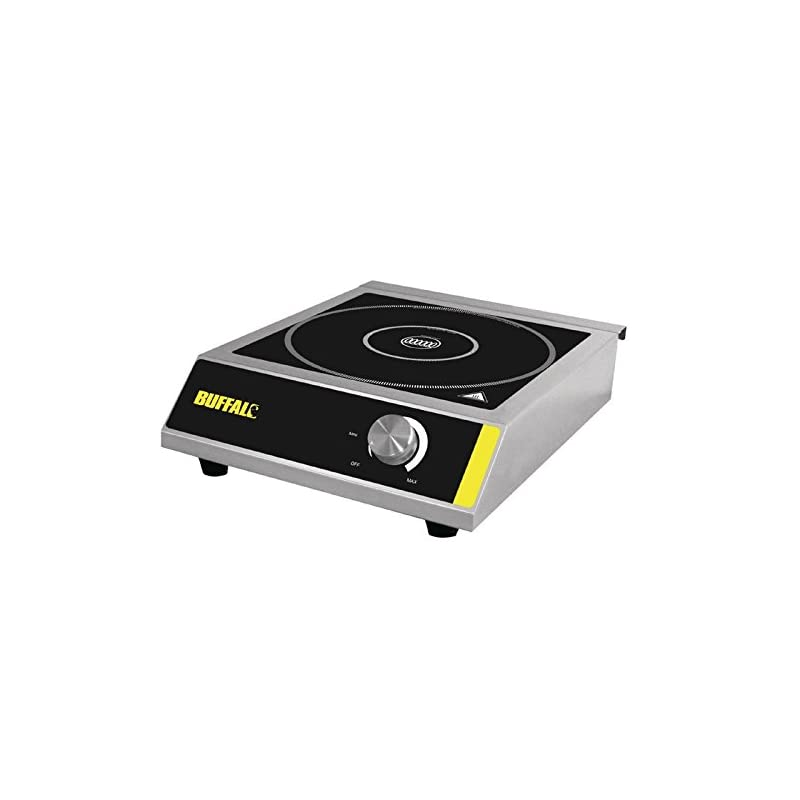 Buffalo CE208 Induction Hob 3000W 100X330X430mm Stainless Steel Cooktop Hot Plate, Black
