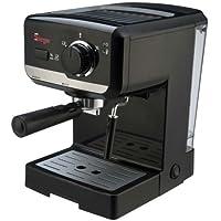 Sirge LUSSY Macchina per Caffè Espresso e Cappuccino e altre BEVANDE utilizza caffè in polvere e/o Cialde ESE44. Potenza da 960 a 1140 Watt. POMPA ITALIANA da 15bar con 2 filtri in dotazione CIALDE o 1 tazzina e caffe' MACINATO da 2 tazzine. Caldaia in Alluminio