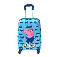 "Children Kids Holiday Travel Character Suitcase Luggage Trolley Bags 18"" George Pig"