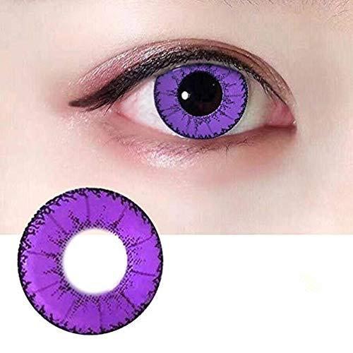 ZS-Juyi Frauen Multicolor Niedlich Farbige Charme und Attraktive Mode Kontaktlinsen Kosmetik Make-Up Lidschatten (Purple)