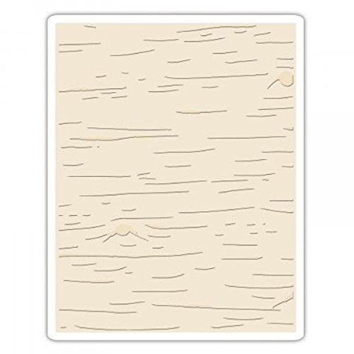 Sizzix Texture Fades Prägeschablone-Birke von Tim Holtz, Plastik, Mehrfarbig, 17.5 x 12.4 x 0.5 cm -