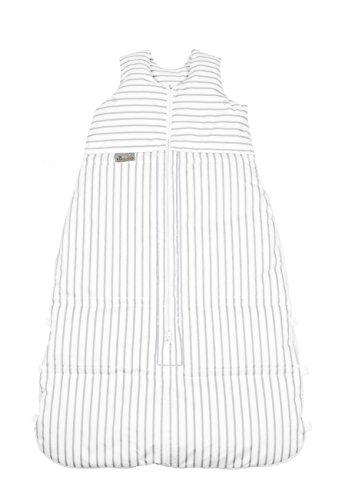 Climarelle Daunenschlafsack, längenverstellbar, Alterskl. älter 24 Monate, Streifen weiß-grau, 130 cm