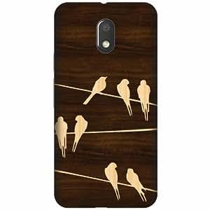 Printland Designer Back Cover For Moto E3 - Wooden Art Designer Cases