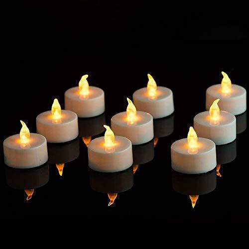 LED Kerzen,Nasharia 24 Stück Flammenlose Kerzen batteriebetriebene flackernde Kerzen Teelichter für Weihnachtsbaum Ostern Hochzeit Party,WarmWeiß
