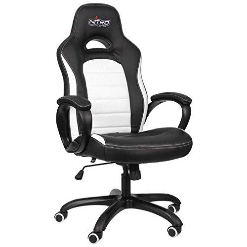 NITRO CONCEPTS C80 Comfort Gaming Stuhl - schwarz/weiß