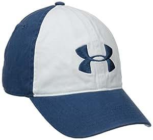 Under Armour Men's UA Washed Cotton Cap One Size Fits All Petrol Blue Petrol Blue/Petrol Blue/White