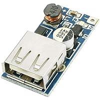 Módulo convertidor de servicio de corazón DC a DC 0,9 – 5 V módulo de elevación de voltaje USB transformador de cargador ajustable de circuito de circuito