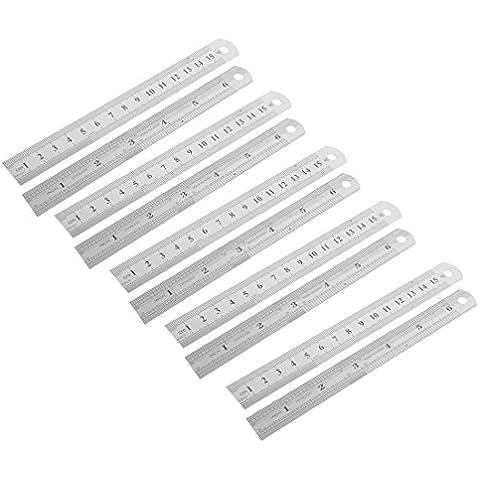 Acero inoxidable sistema métrico recta Regla, 15cm 6