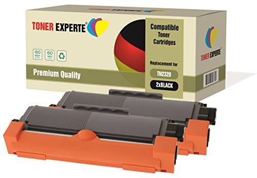 Kit 2 TONER EXPERTE TN2320 Toner compatibili per Brother HL-L2300D HL-L2320D HL-L2340DW HL-L2360DN HL-L2360DW HL-L2365DW DCP-L2500D DCP-L2520DW DCP-L2540DN MFC-L2700DW MFC-L2720DW MFC-L2740DW