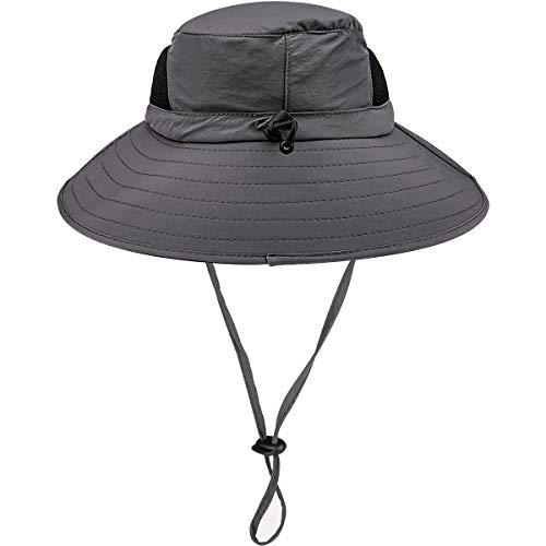 HOHOTO Fischerhüte Damen Herren Anglerhut mit der Netzstoff und Schweißband, Wanderhut schützt vor Sonne und Regen, wasserdicht schnelltrocknend und UV-Schutz UPF 50+