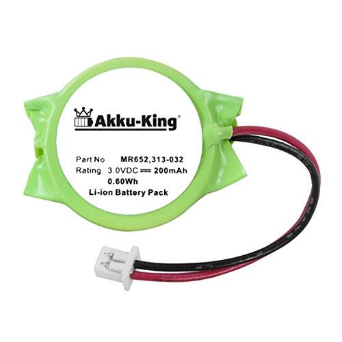 Akku-King Backup, CMOS Batterie für Dell Latitude E6320, E6420, Precision M4600 - ersetzt 313-020, 313-032 - Li-Ion 200mAh