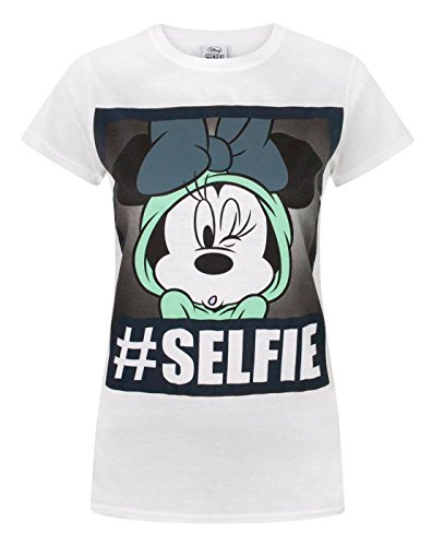 (Disney Minnie Mouse Selfie Womens T-Shirt (S))