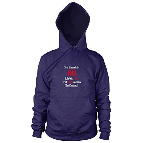 Ich bin nicht 60 - Herren Hooded Sweater, Größe: L, dunkelblau
