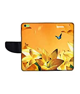 KolorEdge Printed Flip Cover For Apple IPhone 5C -Multicolor (43KeMLogo11112IPhone5C)