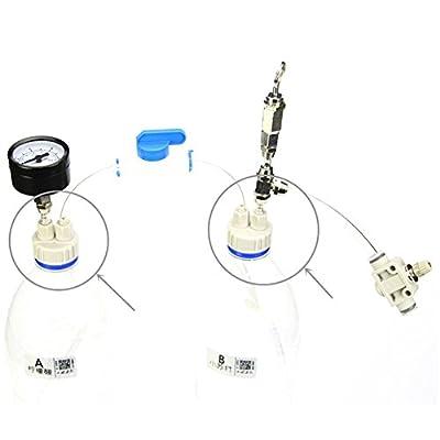 Ofanyia Aquarium Système Capsule Réacteur Co2 Bricolage Professionnel Kit Tube Valve Bouchon De La Bouteille Matériau Plastique ABS