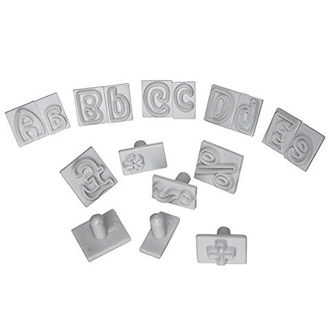 Ensemble de 64 Tampons en Plastique Lettres Alphabet par Kurtzy