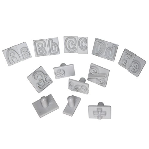 64 Alphabet Keks-Stempel Buchstaben Formen Set von Kurtzy starke Kunststoff-Ausstecher, einschließlich der Buchstaben A-Z. Perfekte Formen für Kekse, Kuchendekoration, Glasur, Fondant, - Machen Halloween-leckereien Einfache