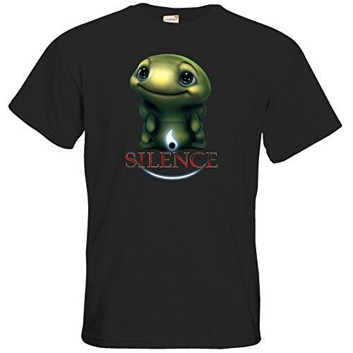 getshirts - Daedalic Official Merchandise - T-Shirt - Silence - Spot 1 Black