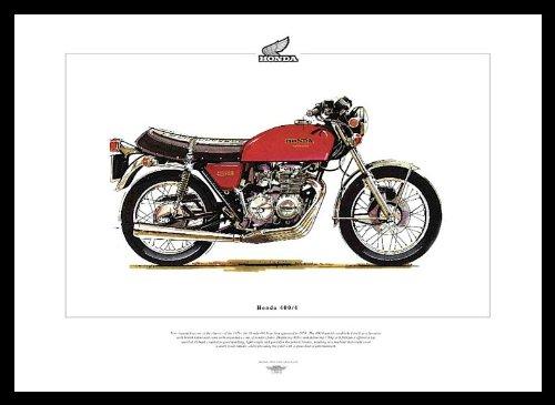 Honda 400/4 Kunstdruck 400-4 Classic Kraftrad Bike Motor