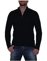S&LU Superweicher Herren Woll-Pullover Strickpulli mit Reißverschluß in verschiedenen Größen und Farben