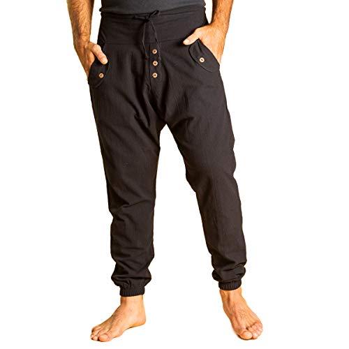 PANASIAM Yogipants, Cotton, Black, M